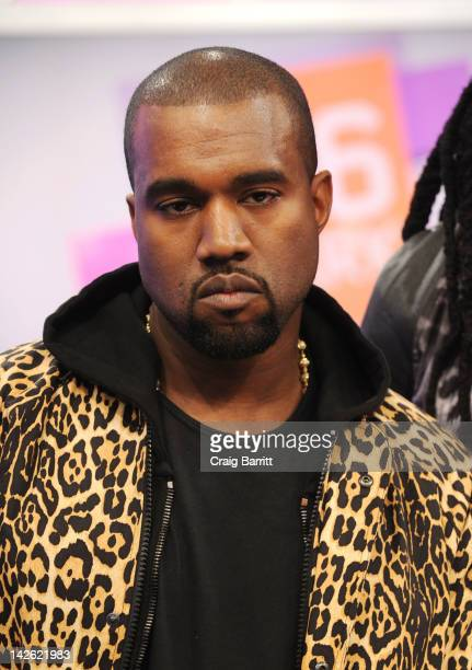 Kanye West at 106 Park Studio on April 9 2012 in New York City