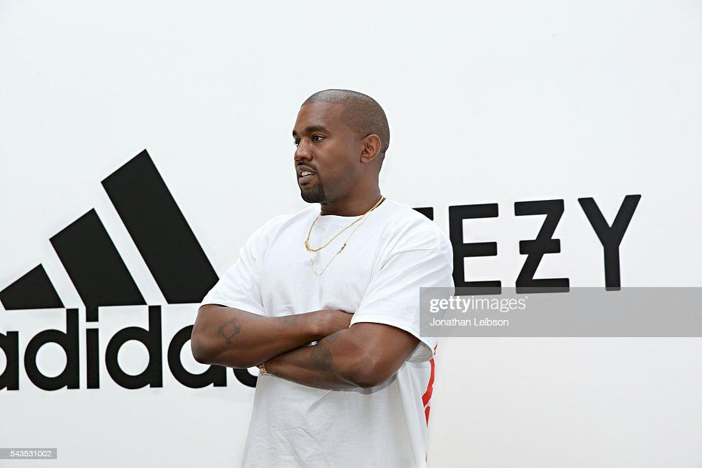 adidas + KANYE WEST New Partnership Announcement : News Photo