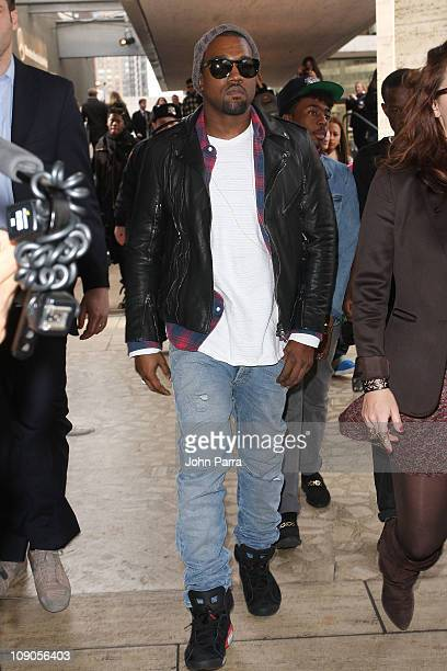 Kanye West attends as Diet Pepsi Debuts Sleek New Can at New York Fashion Week Day 2 at Lincoln Center on February 13 2011 in New York City