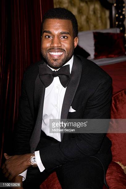 Kanye West attends Flaunt Magazine's 10th Anniversary Party and Annual Holiday Toy Drive at the Wayne Kao Mansion on December 18th, 2008 in Holmby...