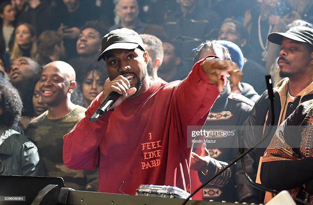 Kanye West Attends Kanye West Yeezy Season 3 At Madison Square Garden On  February 11,