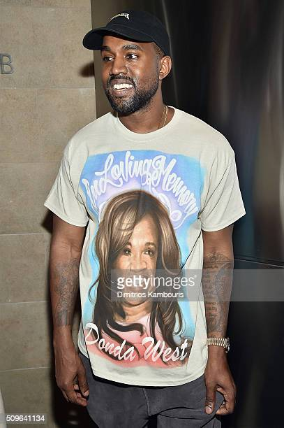 Kanye West attends Kanye West Yeezy Season 3 on February 11 2016 in New York City