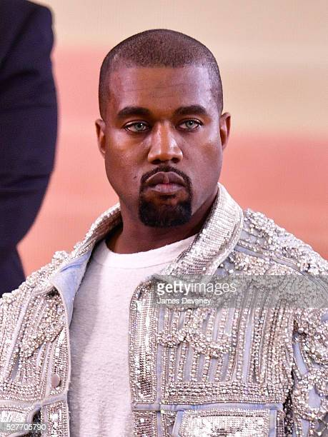 Kanye West attends 'Manus x Machina Fashion in an Age of Technology' Costume Institute Gala at Metropolitan Museum of Art on May 2 2016 in New York...