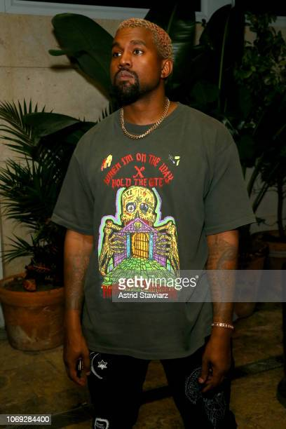 Kanye West attends Prada Mode Miami Night 3 at Freehand Miami on December 6 2018 in Miami Florida
