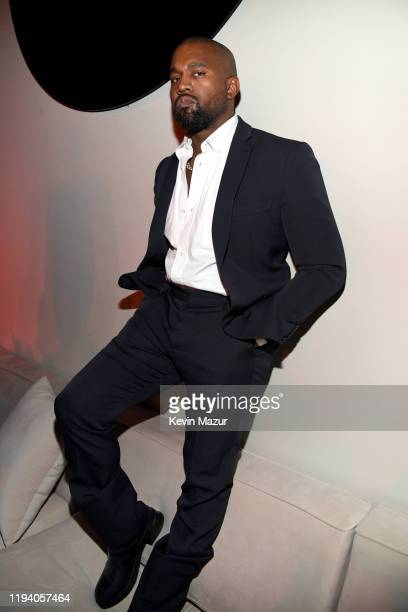 Kanye West attends Sean Combs 50th Birthday Bash presented by Ciroc Vodka on December 14 2019 in Los Angeles California