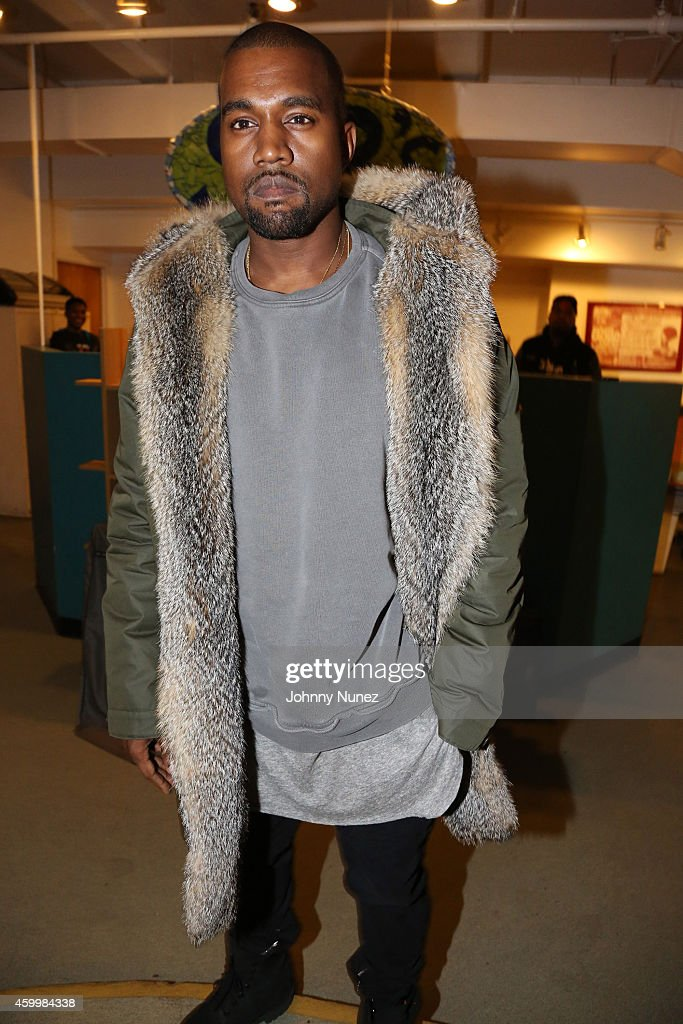 Kanye West attends SOB's on December 4, 2014, in New York City.