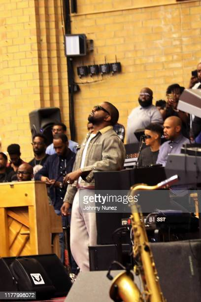 Kanye West attends Sunday Service at The Greater Allen AME Cathedral of New York on September 29 2019 in New York City