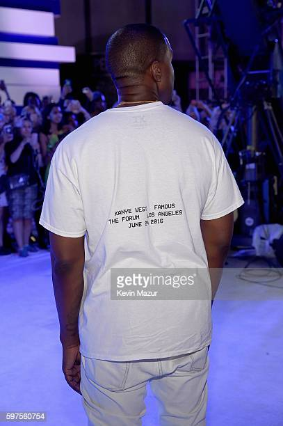 Kanye West attends the 2016 MTV Video Music Awards at Madison Square Garden on August 28 2016 in New York City
