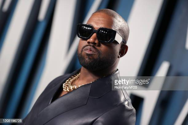 Kanye West attends the 2020 Vanity Fair Oscar Party hosted by Radhika Jones at Wallis Annenberg Center for the Performing Arts on February 09, 2020...