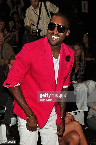 Kanye West attends the 3.1 Phillip Lim Spring 2011 fashion show during Mercedes-Benz Fashion Week at the Park Avenue Armory on September 15, 2010 in...