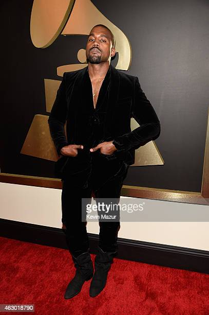 Kanye West attends The 57th Annual GRAMMY Awards at the STAPLES Center on February 8 2015 in Los Angeles California