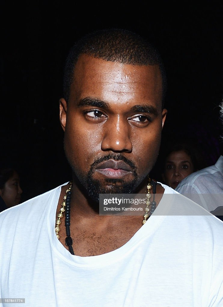 Kanye West attends the celebration of Dom Perignon Luminous Rose at Wall at W Hotel on December 6, 2012 in Miami Beach, Florida.