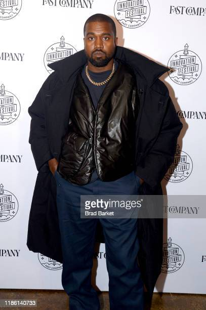 Kanye West attends the Fast Company Innovation Festival Day 3 Arrivals on November 07 2019 in New York City