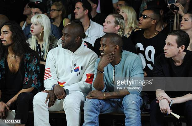Kanye West attends the Hood by Air fashion show during MADE Fashion Week Spring 2014 at Milk Studios on September 8 2013 in New York City