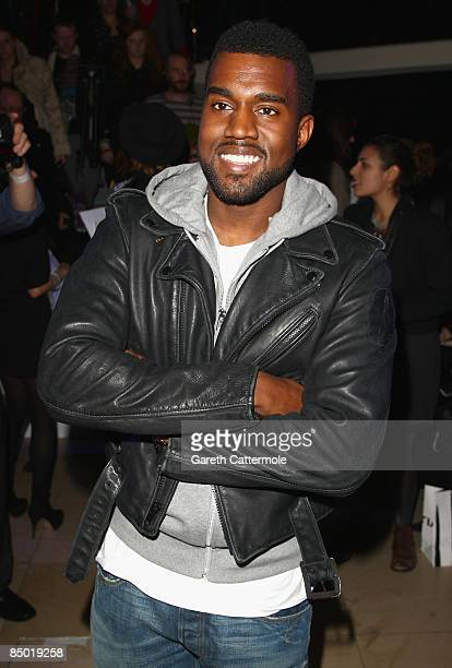 Kanye West attends the House of Holland show at Quaglino's as part of London Fashion Week a/w 2009 on February 24, 2009 in London, England.
