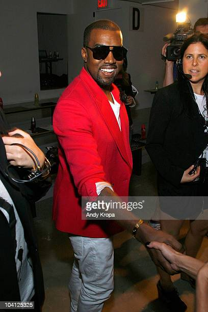 Kanye West attends the Jeremy Scott Spring 2011 fashion show during Mercedes-Benz Fashion Week at Milk Studios on September 15, 2010 in New York City.