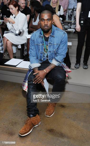 Kanye West attends the Louise Goldin fashion show during MADE Fashion Week Spring 2014 at Milk Studios on September 7 2013 in New York City