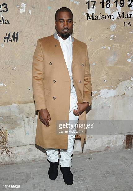 Kanye West attends the Maison Martin Margiela with H&M global launch event at 5 Beekman on October 23, 2012 in New York City.