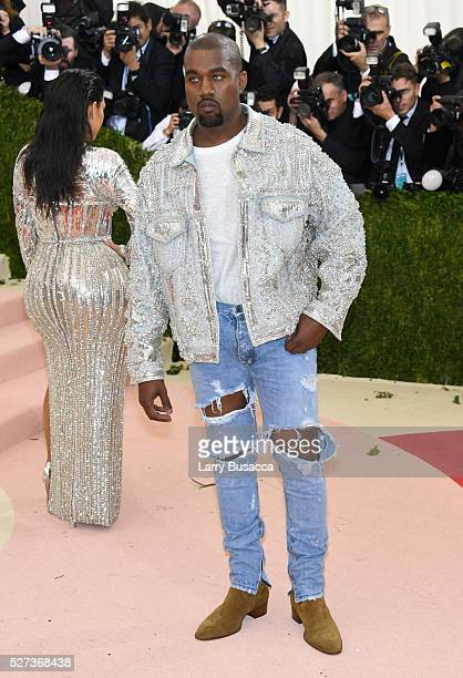 Kanye West attends the 'Manus x Machina Fashion In An Age Of Technology' Costume Institute Gala at Metropolitan Museum of Art on May 2 2016 in New...