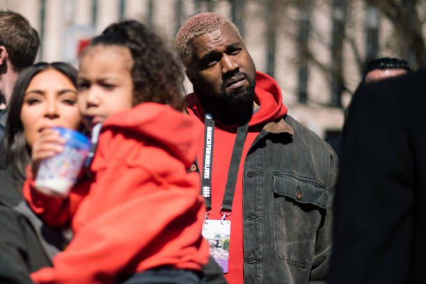 Kanye West attends the March For Our Lives in Washington D.C...