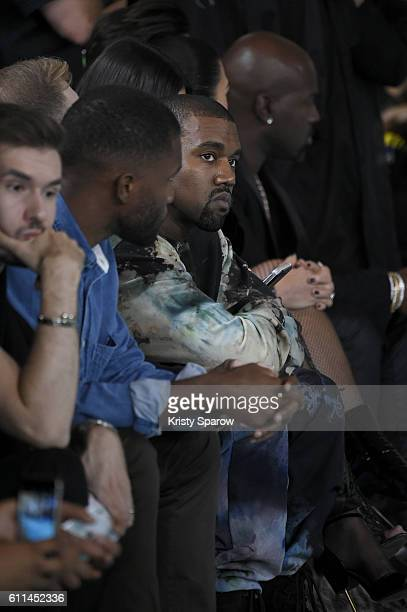 Kanye West attends the OffWhite show as part of Paris Fashion Week Womenswear Spring/Summer 2017 on September 29 2016 in Paris France