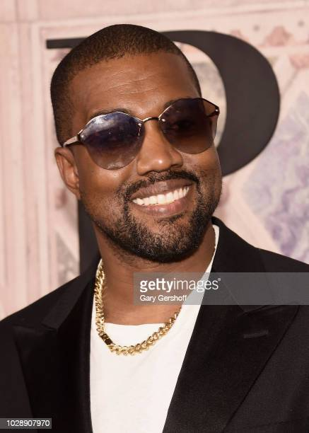 Kanye West attends the Ralph Lauren 50th Anniversary event during New York Fashion Week at Bethesda Terrace on September 7 2018 in New York City