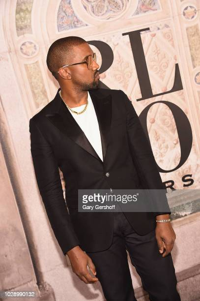 a50cb43ce2e33 Kanye West attends the Ralph Lauren 50th Anniversary event during New York  Fashion Week at Bethesda