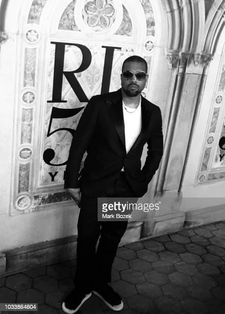 Kanye West attends the Ralph Lauren 50th Anniversary show during New York Fashion Week at Bethesda Terrace on September 7 2018 in New York City