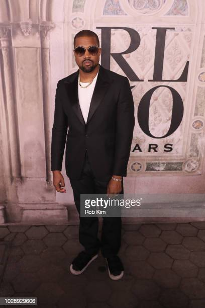 Kanye West attends the Ralph Lauren fashion show during New York Fashion Week at Bethesda Terrace on September 7 2018 in New York City