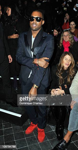 Kanye West attends the Sonia Rykiel Ready to Wear Autumn/Winter 2011/2012 show during Paris Fashion Week at Pavillon Concorde on March 5 2011 in...