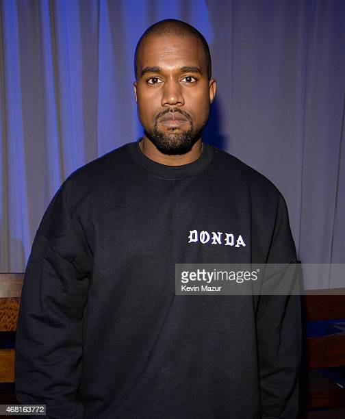 Kanye West attends the Tidal launch event #TIDALforALL at Skylight at Moynihan Station on March 30 2015 in New York City