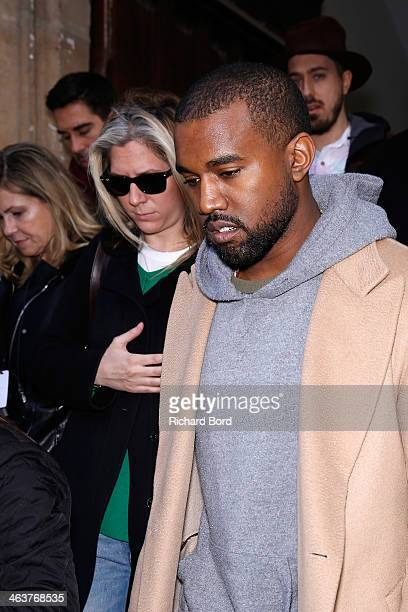 Kanye West attends the Y-3 Menswear Fall/Winter 2014-2015 Show as part of Paris Fashion Week on January 19, 2014 in Paris, France.
