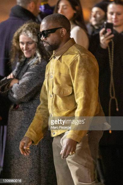 Kanye West attends the Yeezy Season 8 show as part of the Paris Fashion Week Womenswear Fall/Winter 2020/2021 on March 02 2020 in Paris France