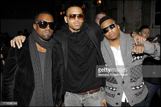 Kanye West Chris Brown Ugly at The Kris Van Assche Fashion Show Introducing The AutumnWinter 20102011 Menswear Collection In Paris
