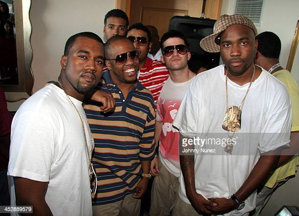 Kanye West Consequence Don C DJ A Trak and GLC during Power Summit September 30 2005 at Westin Hotel in Freeport Bahamas