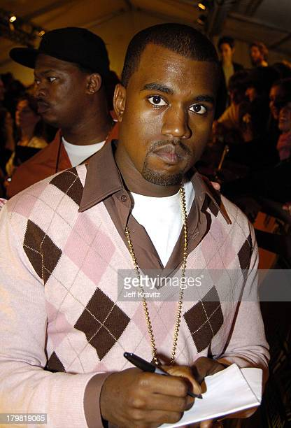Kanye West during 2004 MTV European Music Awards Red Carpet at Torr di Valle in Rome Italy