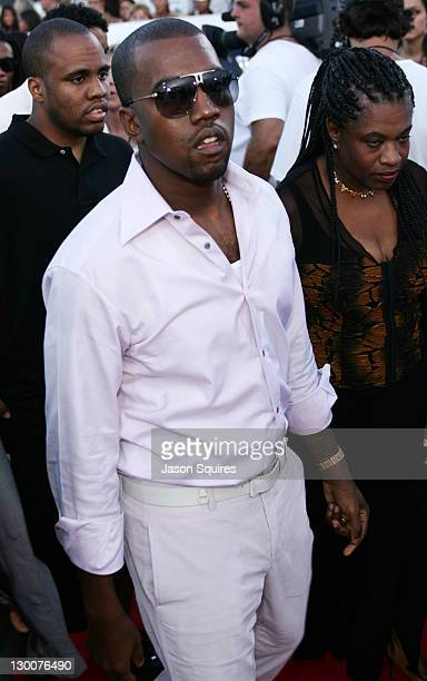 Kanye West during 2004 MTV Video Music Awards Red Carpet at American Airlines Arena in Miami Florida United States