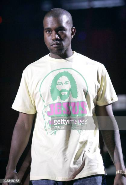 Kanye West during 2004 MTV Video Music Awards Rehearsals Day 2 at American Airlines Arena in Miami Florida United States