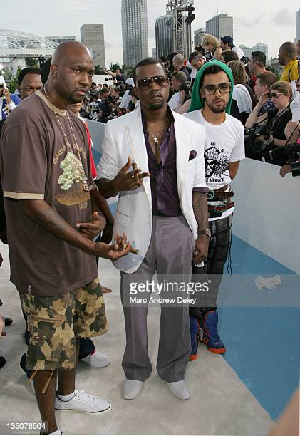 Kanye West during 2005 MTV Video Music Awards Arrivals at American Airlines Arena in Miami Florida United States