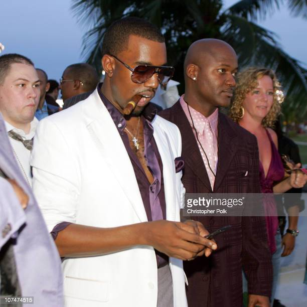 Kanye West during 2005 MTV Video Music Awards White Carpet at American Airlines Arena in Miami Florida United States