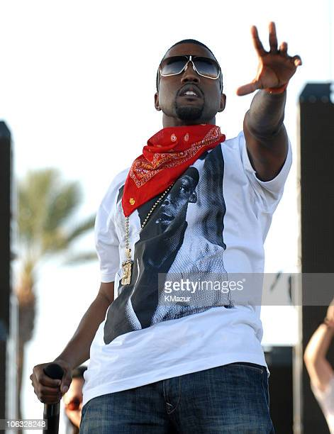Kanye West during 2006 Coachella Valley Music and Arts Festival Day One at Empire Polo Fields in Indio California United States
