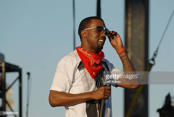 Kanye West during 2006 Coachella Valley Music and Arts Festival Day One at Empire Polo Field in Indio California United States