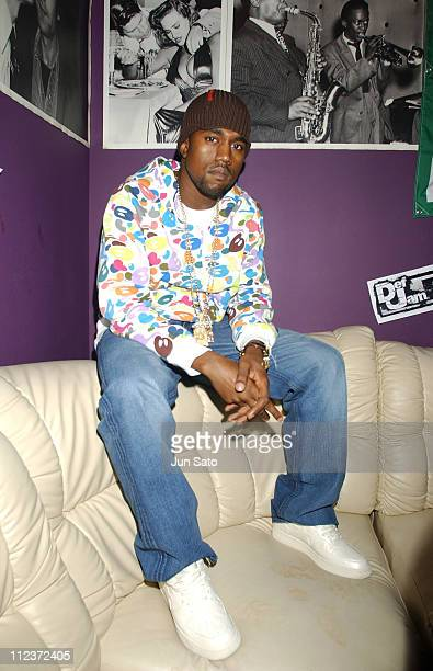 Kanye West during EA Games Hosts Def Jam Fight For NY featured Kanye West Party Backstage at Alife Club in Tokyo Japan