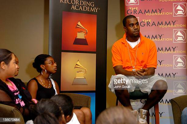 Kanye West during GRAMMY Mentor Session with Kanye West at Staples Center in Los Angeles California United States