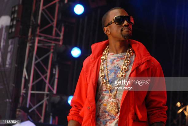 Kanye West during HOT 97 Summer Jam 2007 at Giants Stadium in Rutherford New Jersey United States