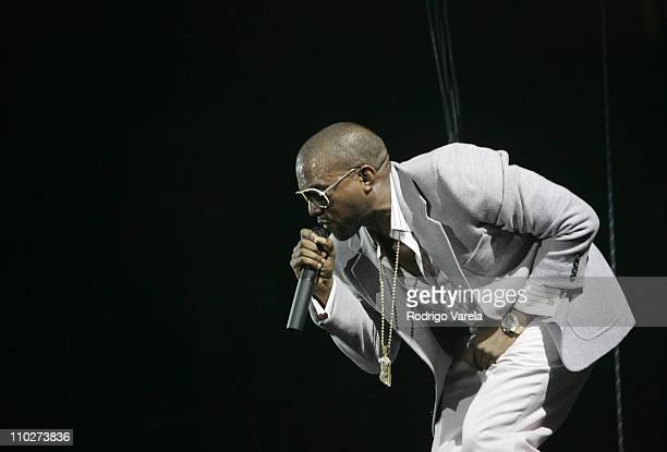 Kanye West during Kanye West Kicks Off His US Tour in Miami - October 11, 2005 at University of Miami Convocation Center in Miami, Florida, United...