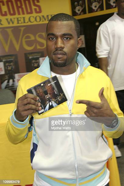 Kanye West during Kanye West Signs His Album Late Registration at Tower Records in New York City August 30 2005 at Tower Records Lincoln Center in...