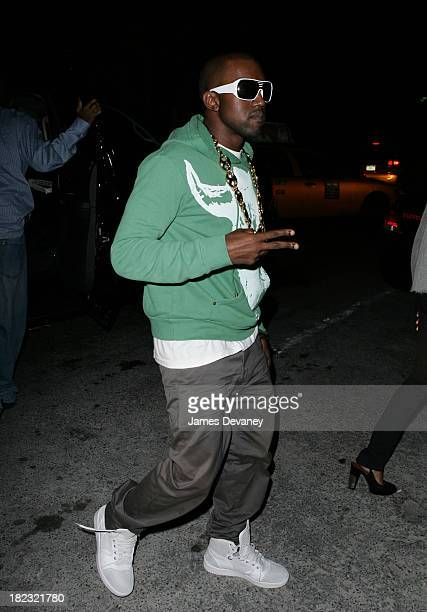 Kanye West during Mario Testino and French Vogue Host Party To Honor Bee Schafer at Gramercy Park Hotel in New York City New York United States