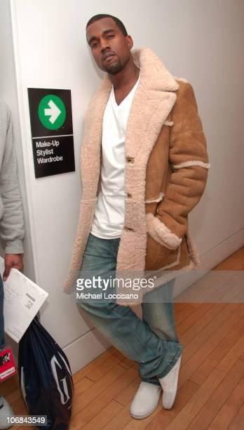 "Kanye West during MTV's ""TRL"" Spankin' New Music Week - Kanye West, Usher, Pharrell Williams and More - November 7, 2005 at MTV Studios - Times..."