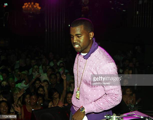 Kanye West during Roc Box Presents Kanye West in Concert - October 8, 2005 at Hard Rock Cafe in New York City, New York, United States.